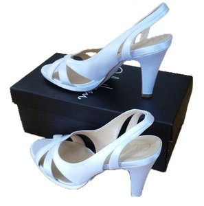 Cole Haan White Satin Sandals