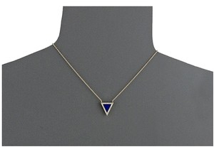 Michael Kors NEW WITH TAGS! Michael Kors Lapis Blue Triangle Pendant Necklace Golden Tone