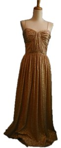 Erin Fetherston Metallic Gold Grecian Bridesmaid Dress