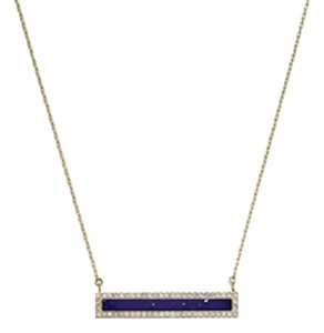 Michael Kors NEW WITH TAGS! Michael Kors Lapis Blue & Gold Tone Pave Bar Pendant Necklace MKJ4259710