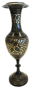Other Brass Etched Vase; India [ Roxanne Anjou Closet ]