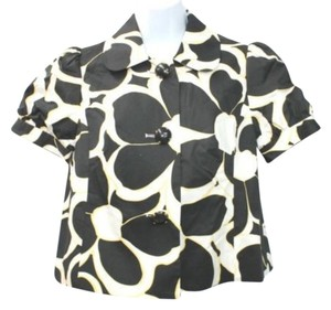 INC International Concepts Cotton Top BLACK/WHITE/YELLOW