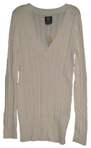 American Eagle Outfitters V-neck Cable-knit Long Sleeve Sweater