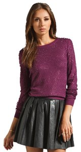 Alice + Olivia Crewneck Sparkle Crystal Sweater