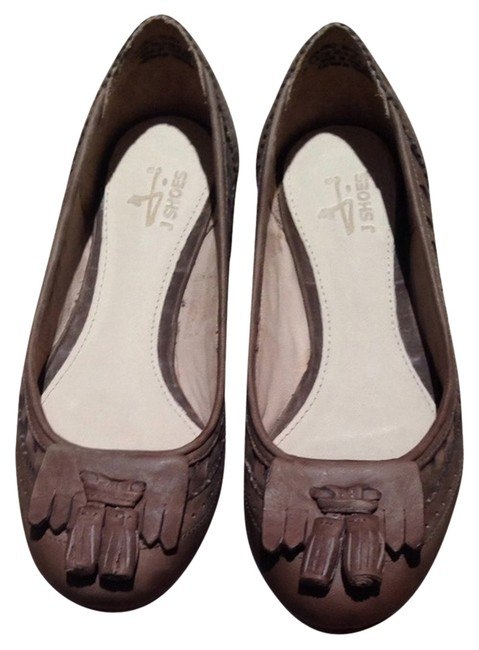 J SHOES Taupe/Mushroom Bolero Flats Size US 6 Regular (M, B) J SHOES Taupe/Mushroom Bolero Flats Size US 6 Regular (M, B) Image 1