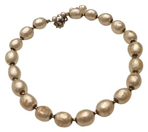 Miriam Haskell Baroque Style Glass Pearl Necklace