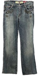 7 For All Mankind Denim Straight Leg Jeans-Medium Wash