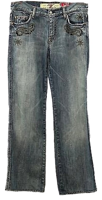 Preload https://img-static.tradesy.com/item/9790342/7-for-all-mankind-blue-medium-wash-studded-denim-straight-leg-jeans-size-31-6-m-0-1-650-650.jpg