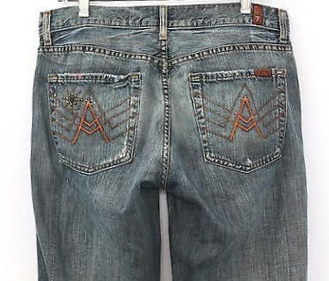 7 For All Mankind Denim Straight Leg Jeans-Medium Wash Image 3
