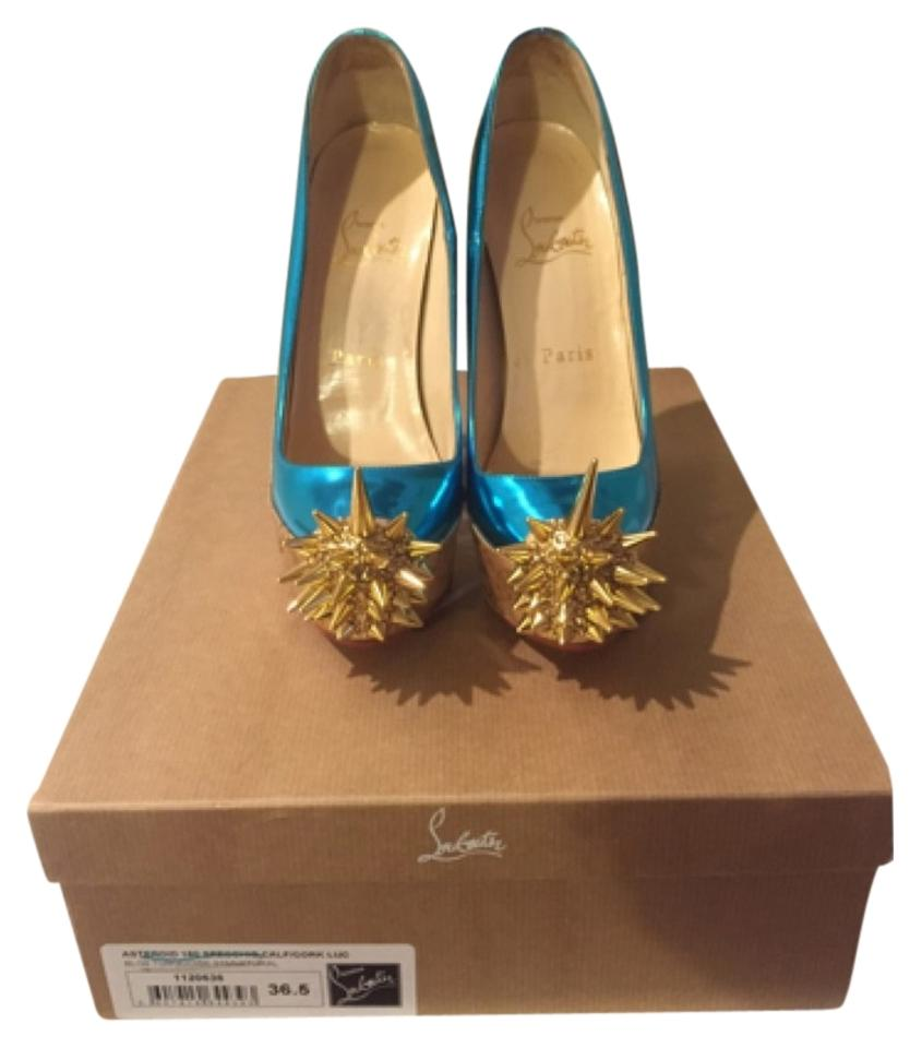 30c51089442 Christian Louboutin Asteroid 160mm Specchio Cork Pumps Platforms Size US  6.5 Regular (M, B) 71% off retail