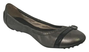 Tod's Buckle Driver Ballerina Pewter Flats