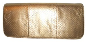 Giani Bernini Leather Snakeskin gold Clutch
