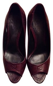 Gucci Deep Plum/Brown Pumps