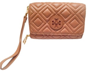 Tory Burch Wallet Quilted Marion Wristlet Coach Wristlet Tory Shoes Tory Jewelry Accesory Brown Clutch