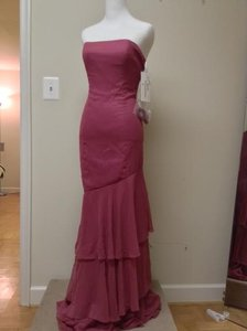 Jim Hjelm Occasions Mauve Chiffon Jh5775 Feminine Bridesmaid/Mob Dress Size 8 (M)