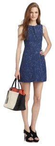 Navy Tweed Print with White Maxi Dress by Diane von Furstenberg Above Knee