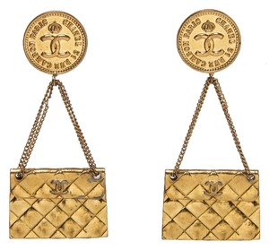 Chanel Chanel Gold Clip On Purse Earrings
