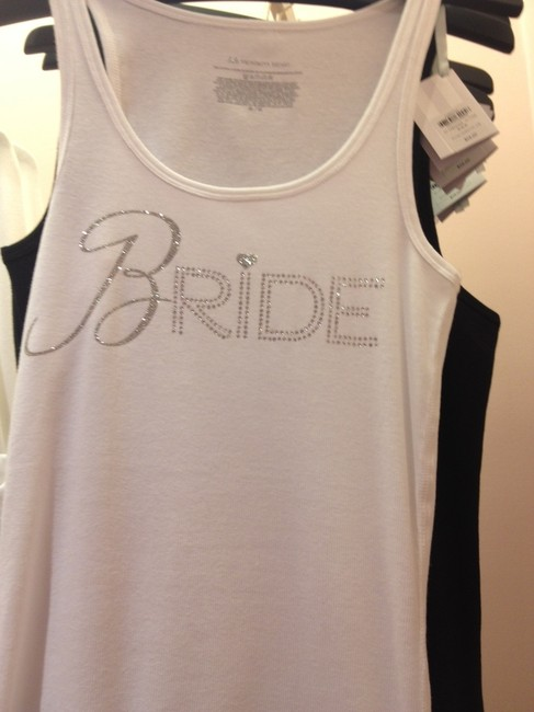 """Item - White with Jewels """"Bride"""" Tank Top From"""
