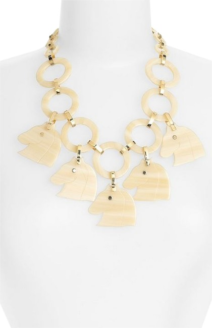 Item - Beige Tilsim Horse Head Necklace