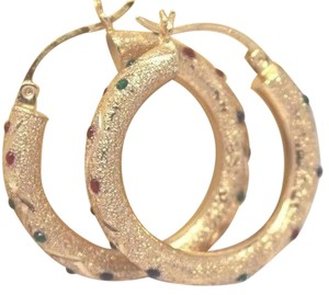 14k Gold Hoop Earrings Approx. 3.4 grams