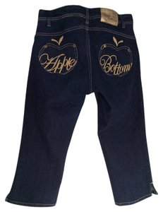Apple Bottoms Capri/Cropped Denim-Dark Rinse