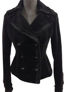 O'2nd London Velvet Size 6 Black Blazer