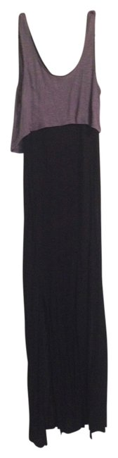Black and Gray Maxi Dress by Mimi Chica