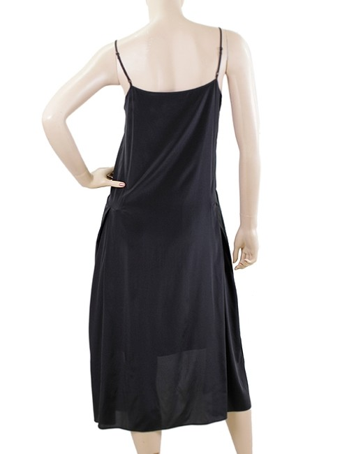 Black Maxi Dress by DKNY Maxi Sleeveless Sleek Drop Waist Sundress