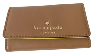 Kate Spade BROWN (outside) and Lime (inside) Travel Bag