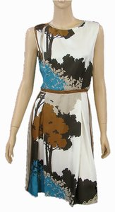 Dolce & Gabbana Silk Print Spring Summer Sheath Shift Shift Dress