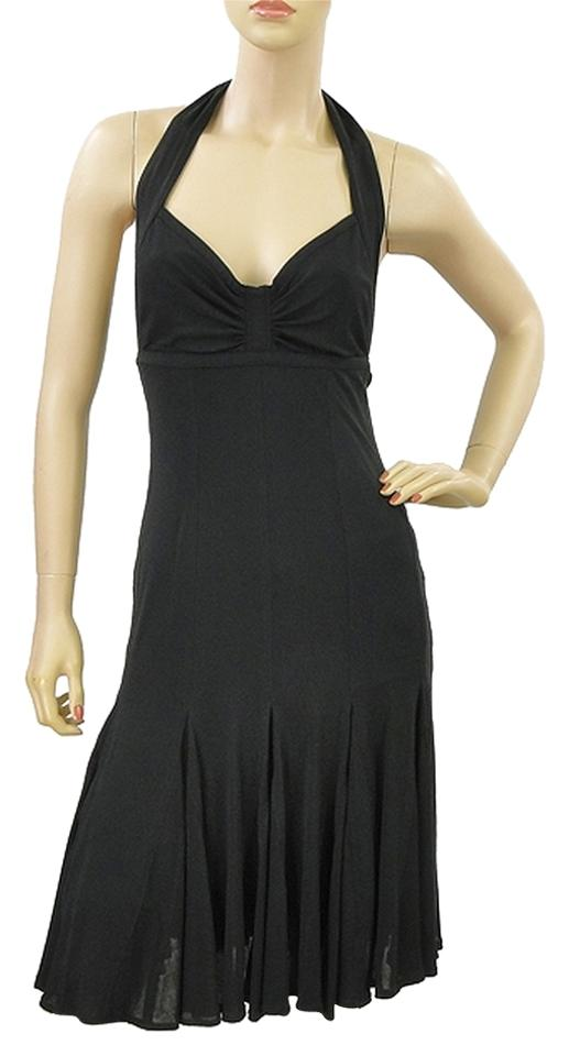 a4ddd2d9c1 Donna Karan Jersey Halter Pleated Flowy Bodycon Sweetheart Sleeveless  Empire Waist Dress Image 0 ...