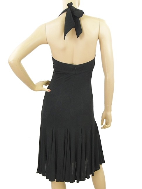 Donna Karan Jersey Halter Pleated Flowy Bodycon Sweetheart Sleeveless Empire Waist Dress
