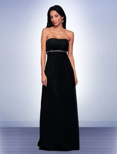 Bill Levkoff Black 522 Feminine Bridesmaid/Mob Dress Size 6 (S)