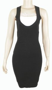 Donna Karan Cashmere Bodycon Evening Sleeveless Party Structured Dress