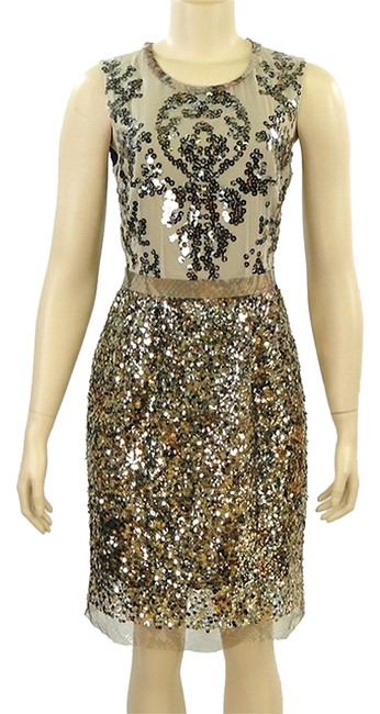Preload https://item3.tradesy.com/images/elie-tahari-gold-isla-sequined-sheath-knee-length-cocktail-dress-size-4-s-979592-0-0.jpg?width=400&height=650