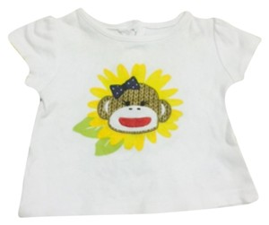 Baby starters T Shirt White with yellow flower