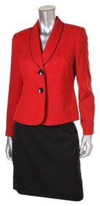 Le Suit LE SUIT NEW Womens Red Organza Piping Trim Skirt Suit Petites 6P. Ships in one day.