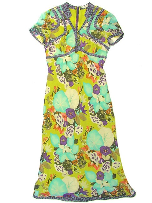 Etro Silk Paisley Floral Asian Spring V-neck Print Dress