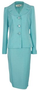 Le Suit LE SUIT NEW Womens Tuileries Blue Shimmer 2PC Skirt Suit Petites 10P. Ships in one day.