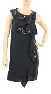 Fendi Evening Patent Silk Party Ruffle Dress
