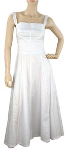 White Maxi Dress by Fendi Flowy Quilted Spring Summer Sleeveless