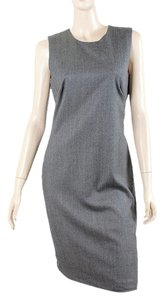 Gucci Tweed Sheath Structured Sleeveless Bodycon Wool Dress