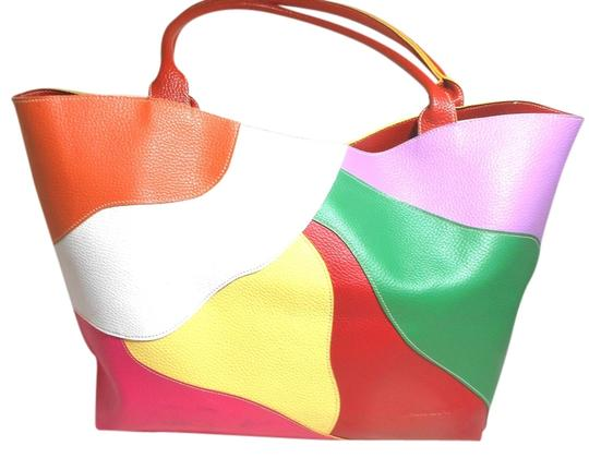 Mellow World Large Red Beach Tote in Multi