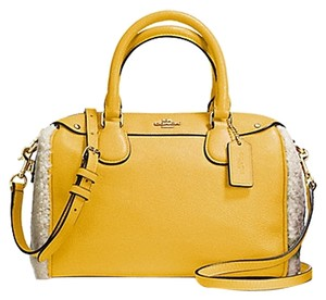 Coach F36689 Satchel in Banana