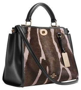 Coach 33640 Gramercy Haircalf Satchel in Brown / Multi