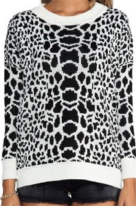 Evil Twin Urban Outfitters Shopbop Revolve Animal Print Oversized Monochrome Sweater