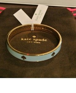 Kate Spade with $27.75 in Bonuses..Powder Blue Gold Tone Spade Bracelet