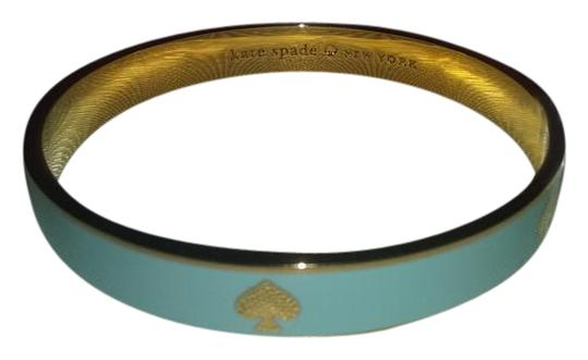 Kate Spade with $27.75 in Extras..Powder Blue Gold Tone Spade Bracelet