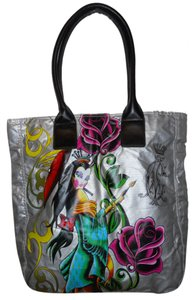 Christian Audigier Tote in silver multi