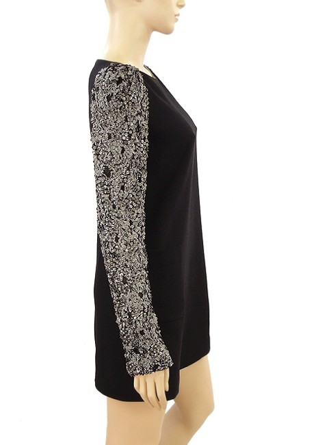 Honor NYC Crystal Tunic Wool Party Hollywood Beaded Lace Evening Dress